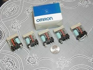 Box Of Five Omron 5 4fe17 Relays 5pin Spdt 10a 12vdc Relay New In Box