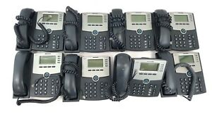Lot Of 8 Cisco Spa504g 4 Line Ip Business Phone