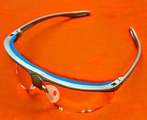3m 11862 Maxim Sport Protective Glasses Clear Lens Silver blue Frame Box 10