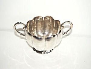 Mexican Sterling Silver Sugar Bowl With Handles Sanborns Mexico Etched 29