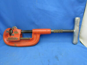 Ridgid 32820 No 2a Heavy Duty 1 8 To 2 Pipe Cutter Converted 3 Wheeel Cutter
