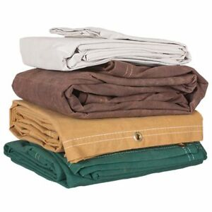 Color Canvas Tarps Heavyweight 10 Oz Water Resistant 4 Colors 3 Sizes 3 X Thick