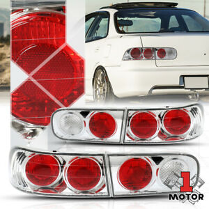 Chrome red euro Altezza Tail Light Rear Brake Lamp For 94 01 Acura Integra 4dr