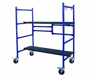Scaffolding Plank Portable Stage Platform Painter Tool Ladder Step Storage Wheel