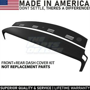 2002 2003 2004 2005 Dodge Ram Two Piece Dash Cover Skin Overlay Kit Black