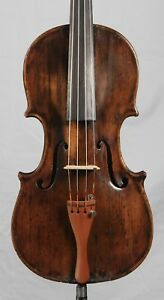 Nice Old Antique 4 4 Violin Very Interesting With Pins 1800 S