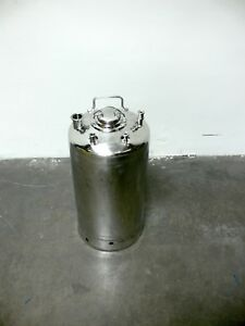 Alloy Products 40l 316 Stainless Steel Pressure Vessel 130 Psi