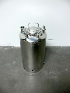 Alloy Products 40l 316l Stainless Steel Pressure Vessel 115 Psi W Bottom Port