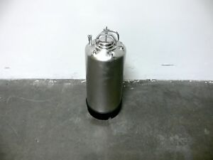 Alloy Products 20 Liter 316 Stainless Steel Pressure Vessel 135 Psi