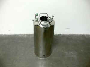 Alloy Products 40 Liter 316 Stainless Steel Pressure Vessel 130 Psi No Cap