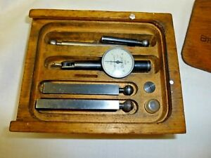 Brown Sharpe Swiss 0005 Bestest 7025 Machinist Dial Indicator Box Complete St
