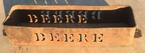 Antique Vintage John Deere Tractor Frame Toolbox With Through Cut Lettering
