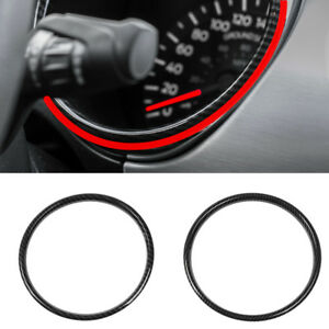 For Ford Mustang 2015 18 Carbon Fiber Interior Instrument Panel Decoration Ring