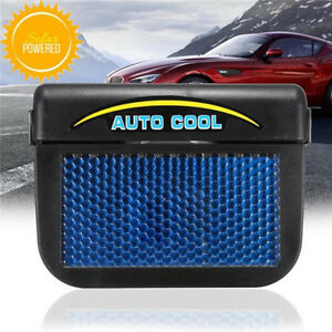Solar Powered Car Window Windshield Auto Air Vent Cooling Fan Cooler Radiator 4