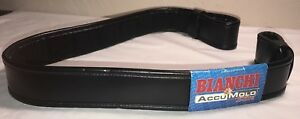 New Bianchi Accumold Elite Police Duty Padded Belt_black_size 40 42_ 2 1 4 Wide