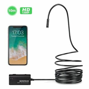 Wireless Endoscope Depstech Wifi Borescope Inspection Camera 2 0 33 Feet