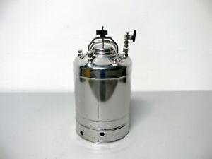 Alloy Products 10l Stainless Steel Pressure Vessel Tank 190 Psi