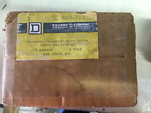 Square D Mh 315 New In Box 3p 15a 240v Breaker See Pictures a85