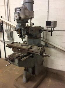 Bridgeport J head Vertical Milling Machine W Dro
