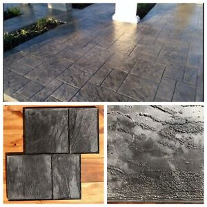 Concrete Texture Stamp Rubber Mat For Printing On Cement Old City 1
