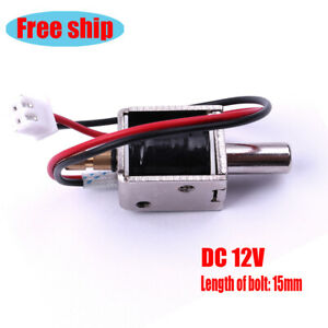 Dc12v Metal Electric Solenoid Bolt Lock For Door File Cabinet Drawer Desk Secure