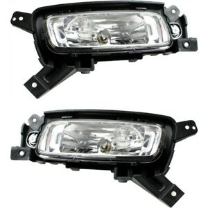 Fog Light Set For 2014 2015 Kia Sorento Front Halogen With Bulb 2pc