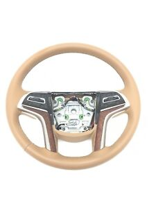 Cadillac Escalade Leather Steering Wheel Choccachino New Oem 2015 2017