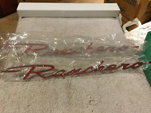 1968 1969 Ford Ranchero Nameplate Scripts Mint Unused Pair