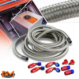 Aluminum An6 An10 Gas Fuel Hose End Fitting 12 Steel Braided Feed Return Line