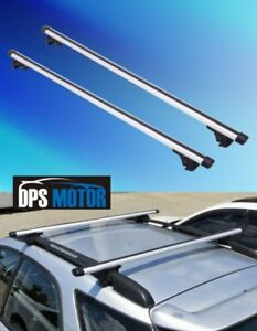 2x Aluminum Universal Roof Rack Top Rail Cross Bar X Bars Luggage Carrier 53
