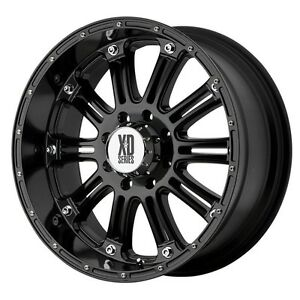 20 Inch Black Rims Wheels New Chevy Silverado 1500 Avalanche Gmc Sierra 4 Xd New