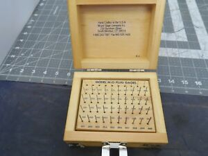 Meyer Pin Gage Set 0110 0 0600 M0 Plus Wood Case 50 Piece Pristine b3b2