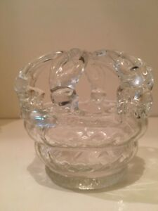 Victorian Hand Blown Glass Bridal Brides Wedding Bank Basket Flower Frog