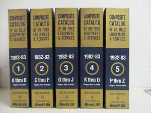 1982 83 5 Volume Set Of Composite Catalog Of Oilfield Equipment Services