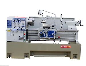 Eisen 1740g Precision Engine Lathe With 3 Spindle Bore 10hp