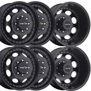 6 new 17 Vision 181 Hauler Dually Wheels 17x6 5 8x210 121 143 Black Rims