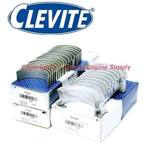 New Clevite 010 Under Size Rod Main Bearing Set Ford 302 5 0l 289 260 255 221