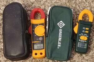 Fluke 322 Clamp Meter W fluke Leads Greenlee Cm 330 Clamp Meter And Cases
