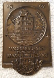 Adac Gau Hessen Wasserburgen Antique Car Badge Vw Split Oval