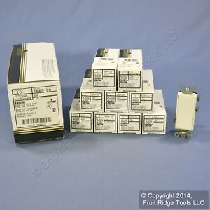 10 Leviton Almond Maintained Spdt Center off Commercial Rocker Switches 5685 2a