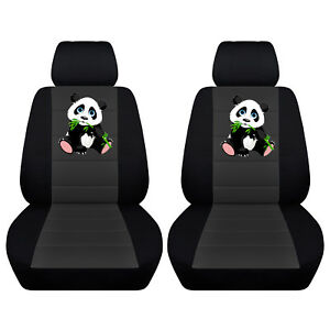 Fits Selected Toyota Models Black And Charcoal Panda Seat Covers Side Airbags