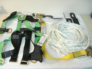 Werner Upgear Lifeline System L242050 50 Rope Lanyard Safety Harness Roof Clips