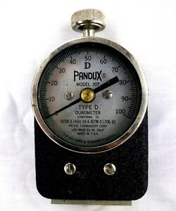 Ptc Pandux Model 307l Type D Durometer W Case Not Tested Sold As Is Bs5 35