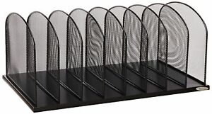 Safco Products 3253bl Onyx Mesh Desktop Organizer With 8 Vertical Sections