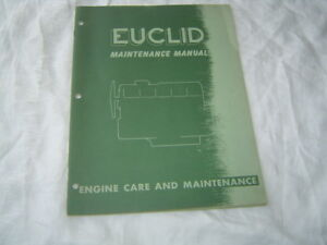 Euclid Buda 8da Cummins Nhs Gmc 6 71 Engine Care And Maintenance Service Manual