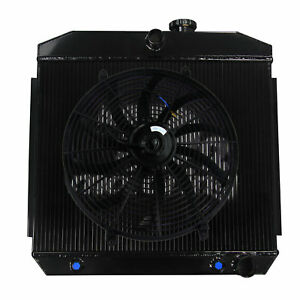 4 Row Radiator 16 Fan For 1955 1957 Chevy Bel Air Nomad V8 W Cooler 210 150 Usa