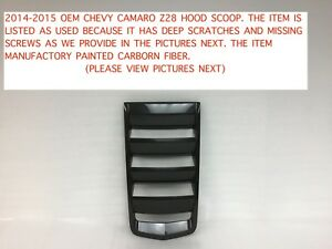 2014 2015 Chevy Camaro Z28 Hood Scoop 23487228 4
