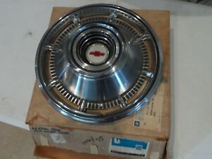 Nos 1966 66 Chevy Full Size Pass Car Impala 14 Hub Cap Oem 3875029 Gm Sk