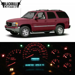 Red Led Interior Replacement Dash Cluster Lights For 2000 2002 Chevrolet Tahoe