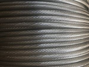 T 316 Grade 1 X 19 Stainless Steel Cable Wire Rope 1 8 500ft Spool